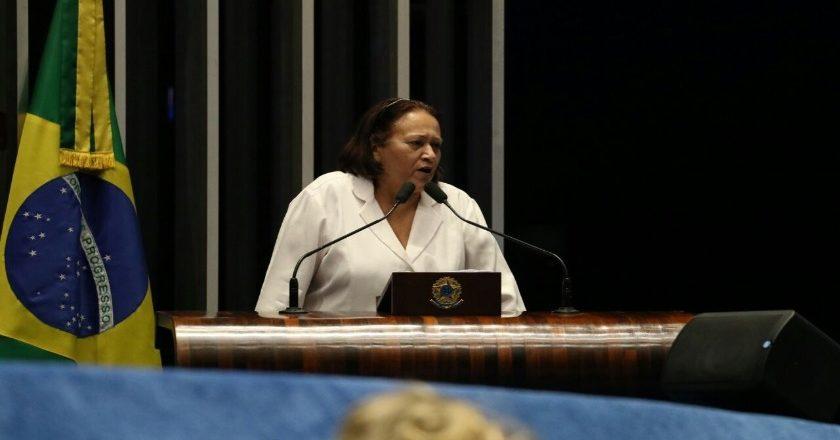 Fátima Bezerra fez um duro discurso na tribuna do Senado cobrando explicações