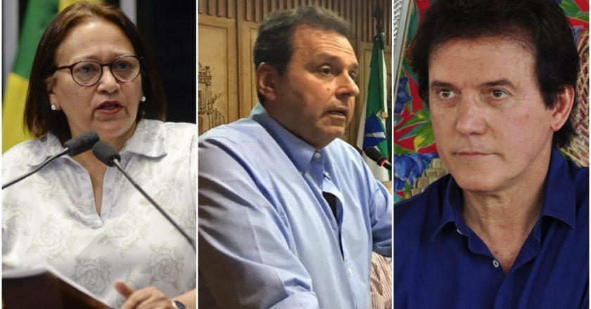 Fátima Bezerra, Carlos Eduardo e Robinson Faria