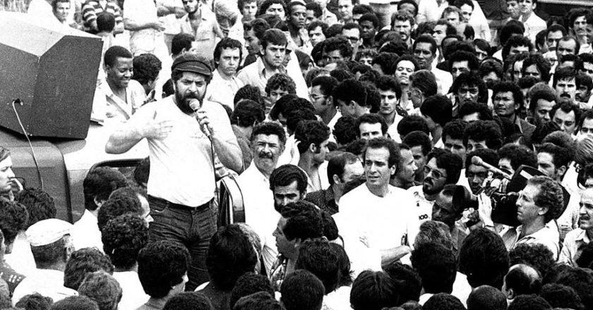 Lula discursa em greve no ABC
